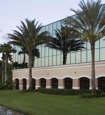 Commercial Building with Landscaping in Coral Gables, FL